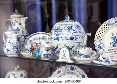 Famous trademark Meissen porcelain dining services