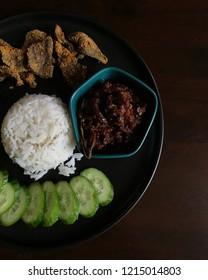 Famous traditional food of Malaysia, Nasi Lemak.