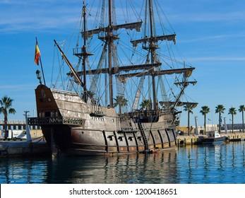 Famous traditional Spanish Galleon 16-18th. Century historical armada ship  Alicante Costa Blanca Spain