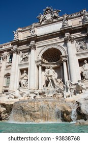 The famous Trevi Fountain in Rome - Italy