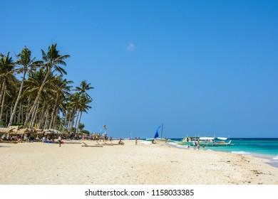 Famous tropical beach of Boracay, Philippines