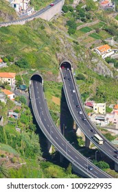 Famous tunnels of Madeira island, Portugal