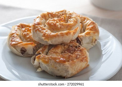 Famous Turkish pastry borek with minced meat