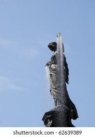 Famous Tyler Davidson Fountain at Fountain Square Downtown Cincinnati Ohio