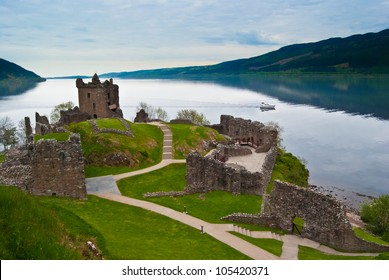 famous Urquhart Castle at Loch Ness in Scotland