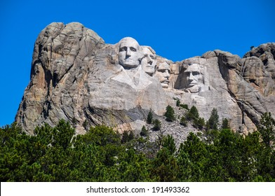 Famous US Presidents on Mount Rushmore National Monument, South