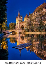 Famous Vajdahunyad castle in Budapest, Hungary