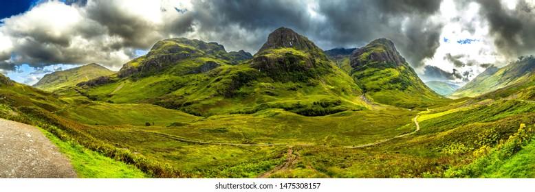 Famous Valley Of Glencoe In Scotland