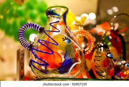 Famous venetian colorful souvenir from murano glass