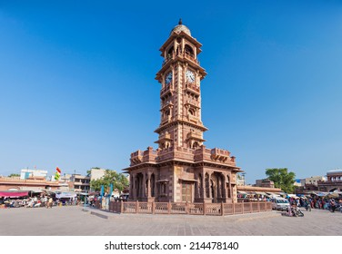 Famous victorian Clock Tower in Jodhpur, India