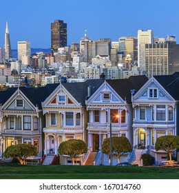 Famous view of San Francisco, USA