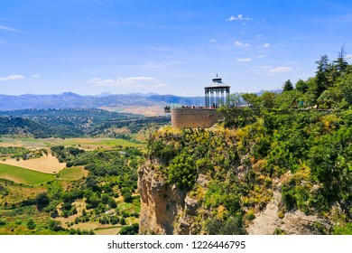 Famous viewpoint in Ronda (Balcon del Conio), Andalusia, Spain