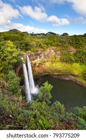 The famous Wailua Falls in Kauai, Hawaii.