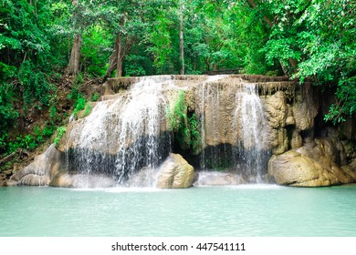 Famous Waterfall National Park Thailand