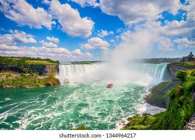 Famous waterfall, Niagara falls in Canada, Ontario
