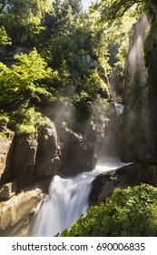 Famous Waterfalls Giessbach in the Bernese Oberland near Brienz, Switzerland