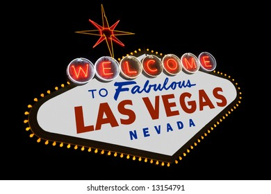 The famous Welcome to Fabulous Las Vegas sign along Las Vegas Boulevard in Nevada