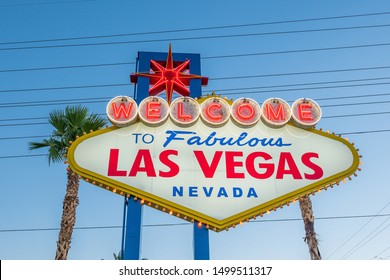 Famous welcome sign in Las Vegas, United States of America