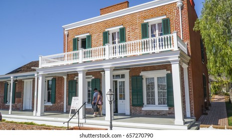 Famous Whaley House in San Diego Old Town - SAN DIEGO / CALIFORNIA - APRIL 21, 2017