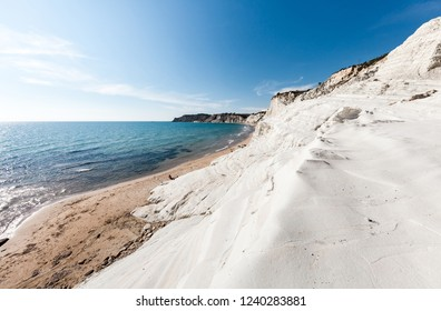 Famous white beach Scala dei Turchi on Sicily