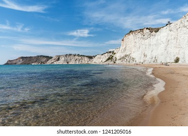 Famous white beach of Scala dei Turchi on Sicily