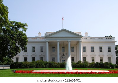 The famous White House building in Washington DC
