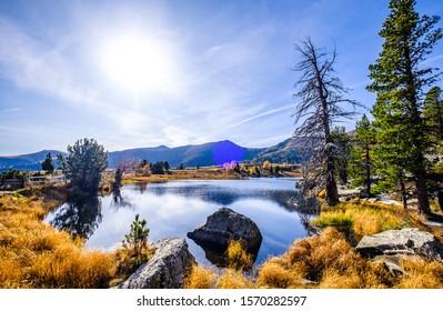 famous windeben lake at the nockmountains in austria - nockberge