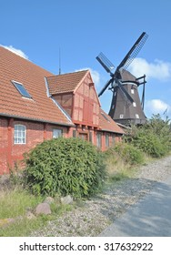 the famous Windmill of Lemkenhafen,Fehmarn Island,baltic Sea,Germany