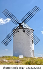 The famous windmills of Campo de Criptana, one of the symbols of Ciudad Real, Spain.