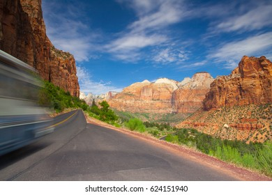 Famous Zion National Park. It is a southwest Utah nature preserve distinguished by Zion Canyona?s steep red cliffs