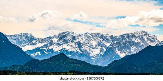 famous zugspitze mountain in germany