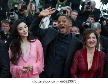 Fan Bingbing, Will Smith, Agnes Jaoui  attends the 70th Anniversary screening  premiere for at the 70th Festival de Cannes. May 23, 2017 Cannes, France