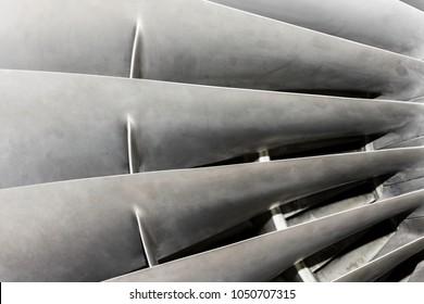 Fan Blades Of Jet Engine
