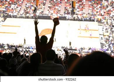 fan cheering