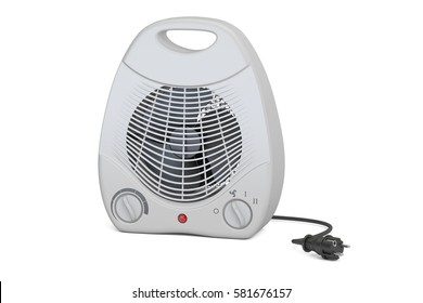 fan heater closeup, 3D rendering isolated on white background