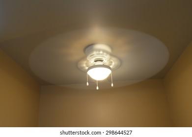 Fan light on ceiling at long shutter speed