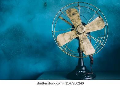 Fan on a blue background