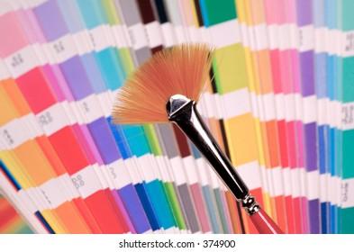 Fan Style Paint Brush