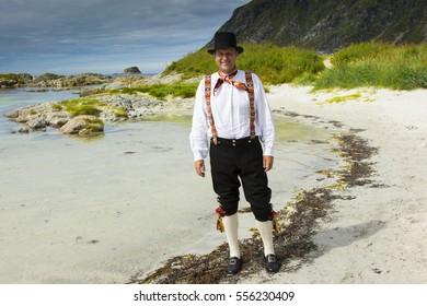Fana bunad - folk costume in Bergen Norway