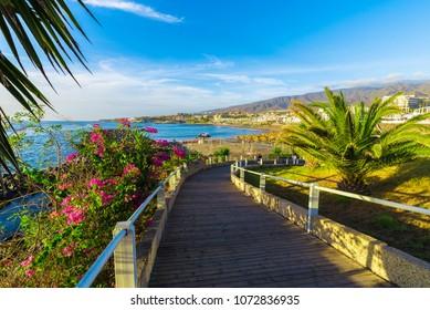 Fanabe beach at Adeje Coast, Tenerife, Canary Islands, Spain