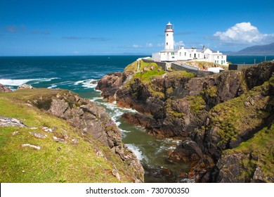 Fanad Head Lighthouse on a sunny day, County Donegal, Ireland