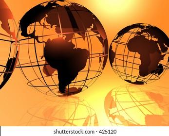 Fancy 3D rendered of world.