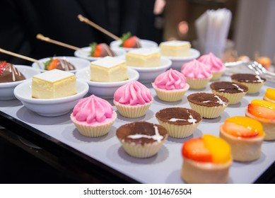 fancy colorful mousse in party