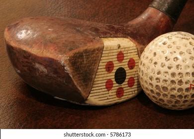 Fancy Face Driver with Old Golf Ball