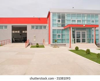 Fancy factory building