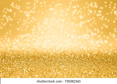 Fancy gold glitter sparkle confetti background for golden happy birthday party invite, 50th anniversary, New Year's Eve champagne backdrop, glitzy falling diamonds, Christmas or wedding luxury pattern