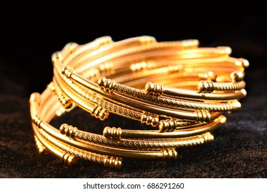 33bc636f581 Gold Bangles Images, Stock Photos & Vectors | Shutterstock