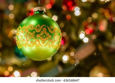 Fancy Green Ornament