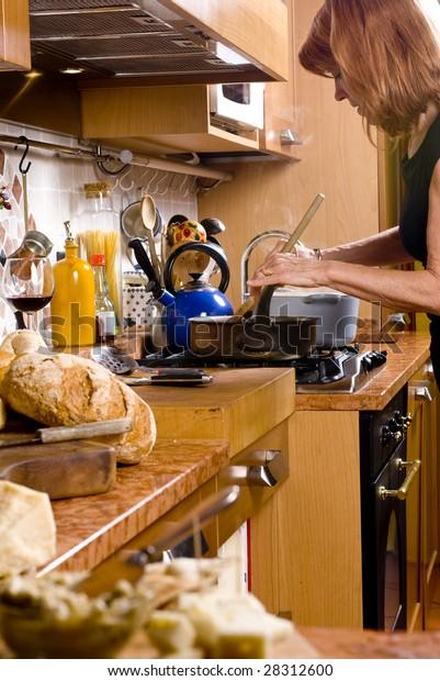 Fancy Italian Kitchen Rustic Tiles Stock Photo (Edit Now ...