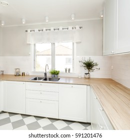 fancy kitchen interior